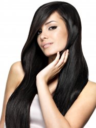 #1 Sort, 40 cm, Nano Hair Extensions
