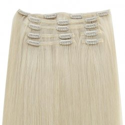 #613 Lysblond, 60 cm, Clip-on Extensions