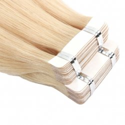 #2 Mørkebrun, 50 cm, Double drawn Tape Extensions